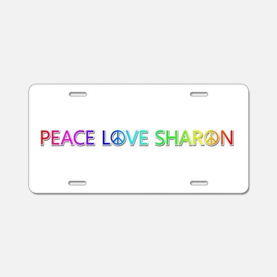 Peace Love Sharon Aluminum License Plate