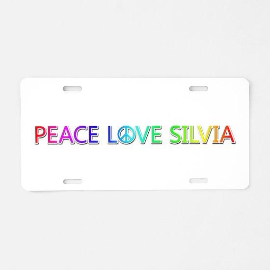 Peace Love Silvia Aluminum License Plate