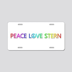 Peace Love Stern Aluminum License Plate