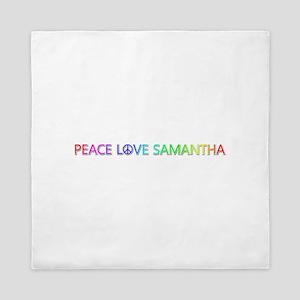 Peace Love Samantha Queen Duvet