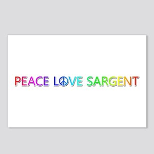 Peace Love Sargent Postcards 8 Pack