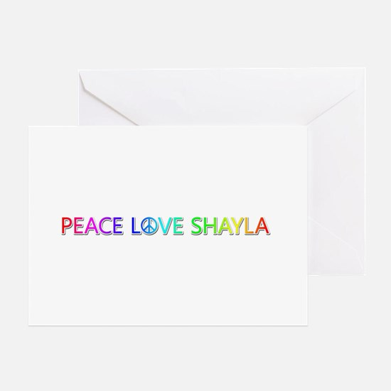 Peace Love Shayla Greeting Card