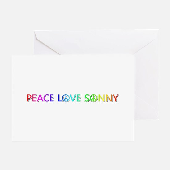 Peace Love Sonny Greeting Card