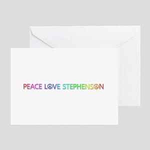 Peace Love Stephenson Greeting Card