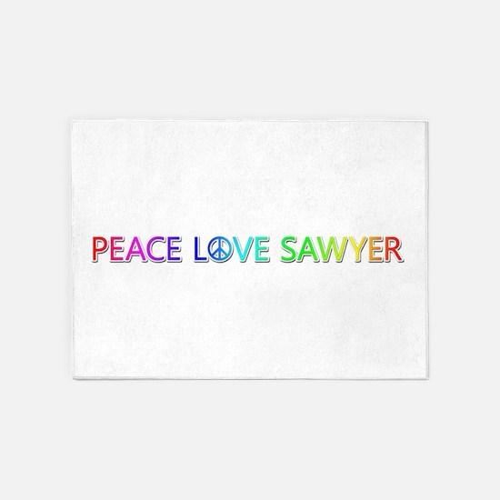Peace Love Sawyer 5'x7' Area Rug