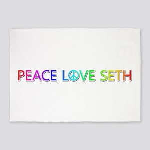 Peace Love Seth 5'x7' Area Rug