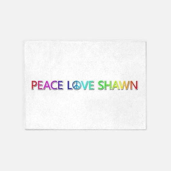 Peace Love Shawn 5'x7' Area Rug
