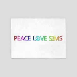 Peace Love Sims 5'x7' Area Rug