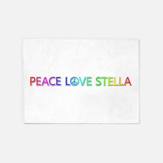 Peace Love Stella 5'x7' Area Rug