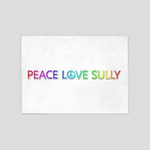 Peace Love Sully 5'x7' Area Rug