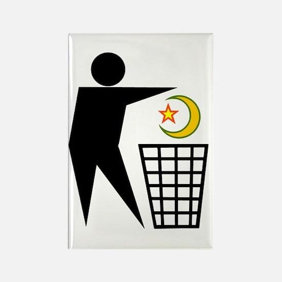 Trash Religion (Muslim Version) Rectangle Magnet