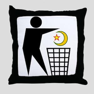 Trash Religion (Muslim Version) Throw Pillow
