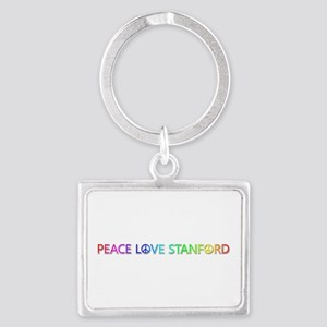 Peace Love Stanford Landscape Keychain