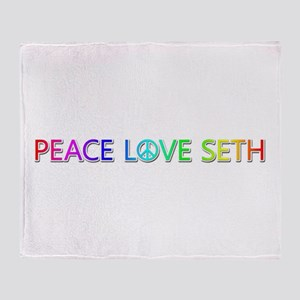 Peace Love Seth Throw Blanket