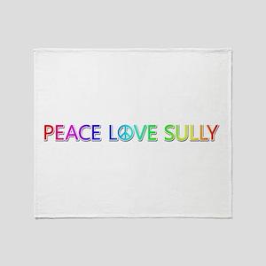 Peace Love Sully Throw Blanket