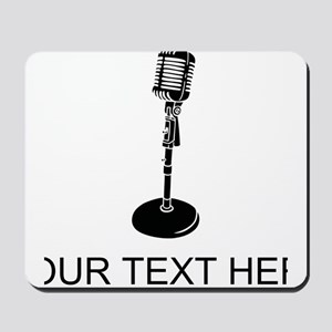 Retro Microphone (Custom) Mousepad