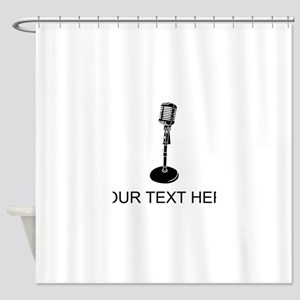 Retro Microphone (Custom) Shower Curtain