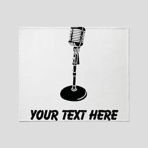Retro Microphone (Custom) Throw Blanket