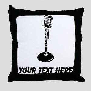 Retro Microphone (Custom) Throw Pillow