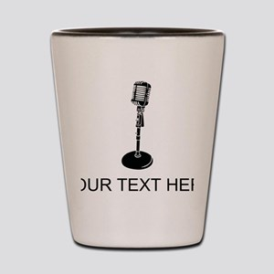 Retro Microphone (Custom) Shot Glass