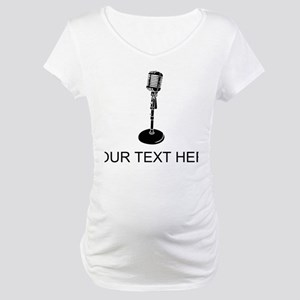 Retro Microphone (Custom) Maternity T-Shirt