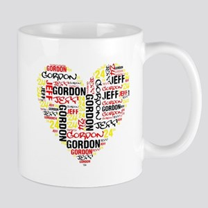 Heart Jeff Gordon Mugs