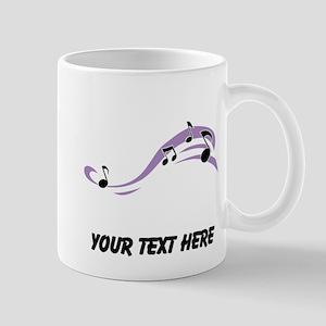 Floating Music Notes (Custom) Mugs