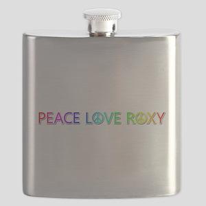 Peace Love Roxy Flask