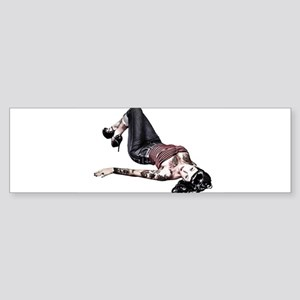 Pinup Girl Bumper Sticker