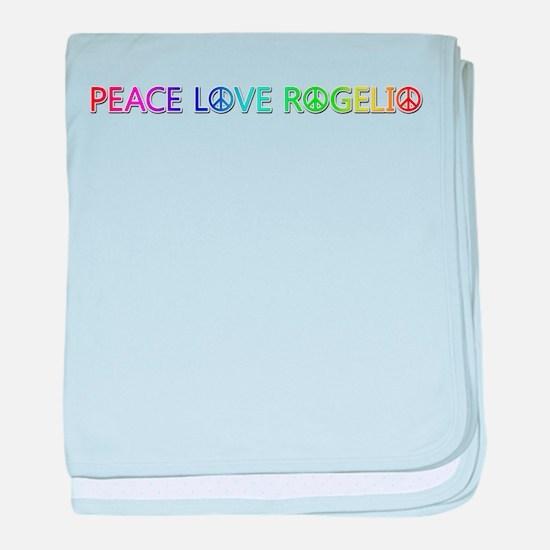 Peace Love Rogelio baby blanket