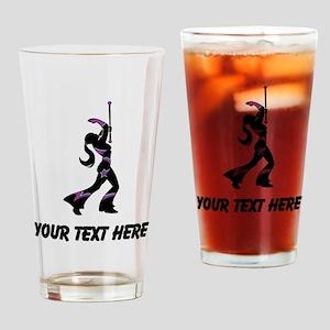Baton Twirler (Custom) Drinking Glass