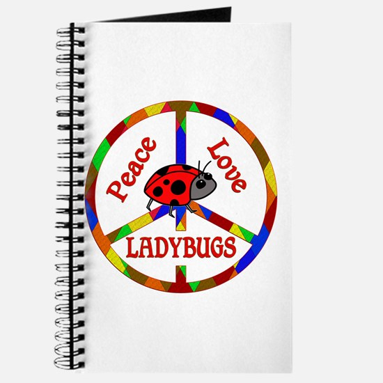Peace Love Ladybugs Journal