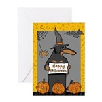 BT Doxie Witch Greeting Card