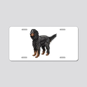 Gordon Setter Standing Aluminum License Plate