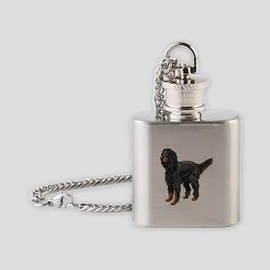 Gordon Setter Standing Flask Necklace