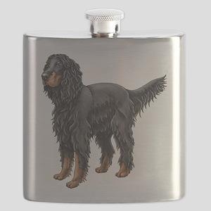 Gordon Setter Standing Flask