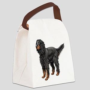 Gordon Setter Standing Canvas Lunch Bag