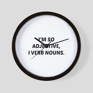 I'm So Adjective Wall Clock