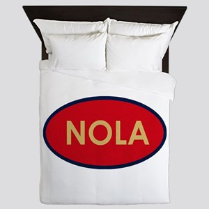 NOLA GOLD RED Queen Duvet