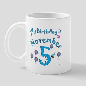 November 5th Birthday Mug