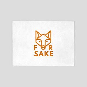For Fox Sake 5'x7'Area Rug