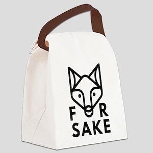 For Fox Sake Canvas Lunch Bag