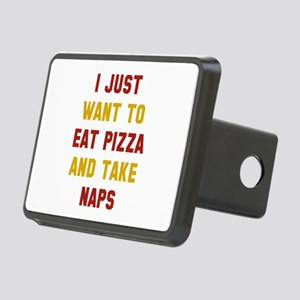 Eat Pizza And Take Naps Rectangular Hitch Cover
