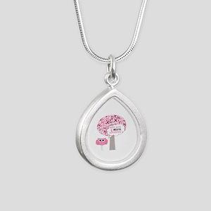 happy & alive breast cancer survivor Necklaces