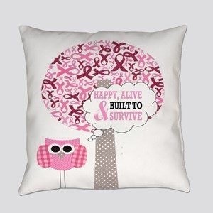 happy & alive breast cancer surviv Everyday Pillow