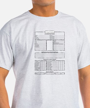 Role play game character sheet T-Shirt
