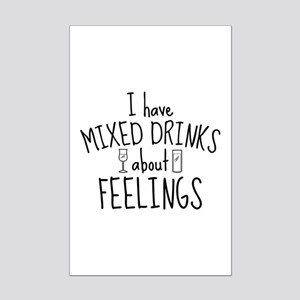 Mixed Drinks About Feelings Mini Poster Print