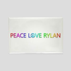Peace Love Rylan Rectangle Magnet