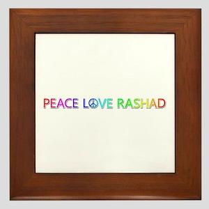 Peace Love Rashad Framed Tile