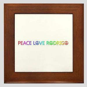 Peace Love Rodrigo Framed Tile